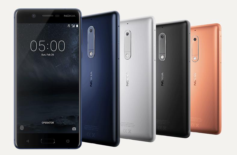 Android Nokia 6 telefonunun renk modelleri.