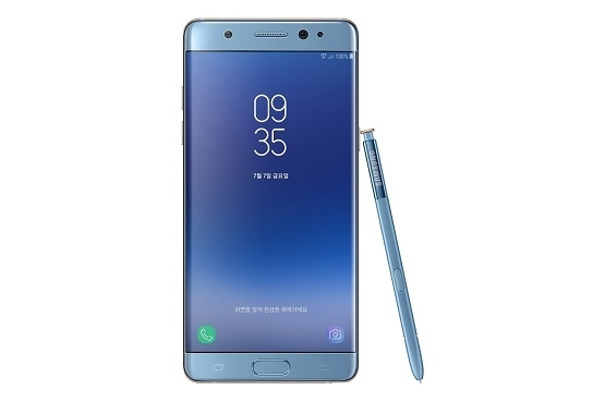 Galaxy Note Fan Edition akıllı telefonu.